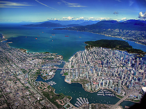 Vancouver Aerial by ecstaticist