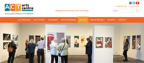The ACT Arts Centre website