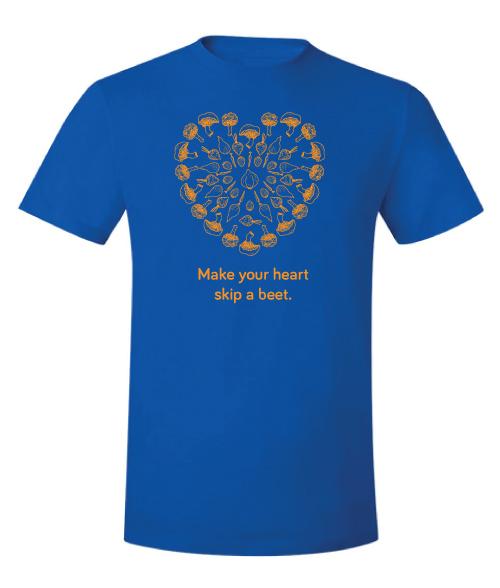 Blue t-shirt, front