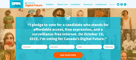 Canada's Digital Future website