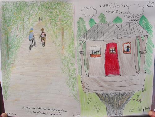 Galloping Goose trail drawing