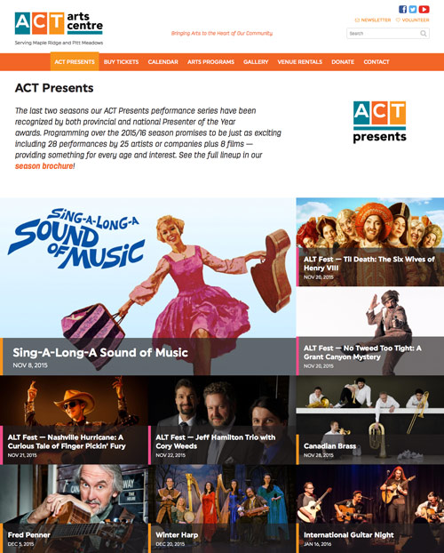 ACT Presents listing