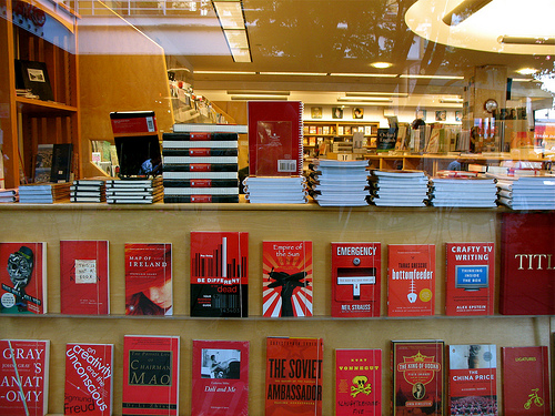 Bookstore in red by Szymon Surma