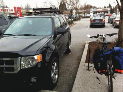 SUV vs bike
