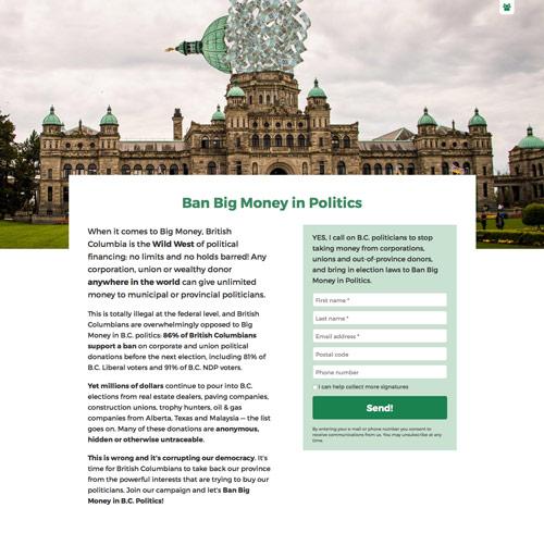Ban Big Money (desktop)
