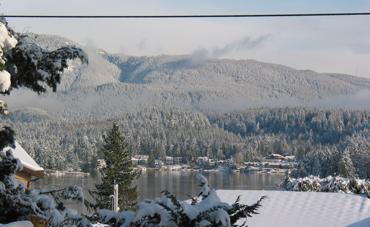 Sunlit snow in Belcarra