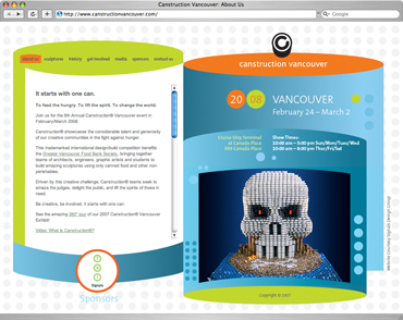 Canstruction Vancouver website