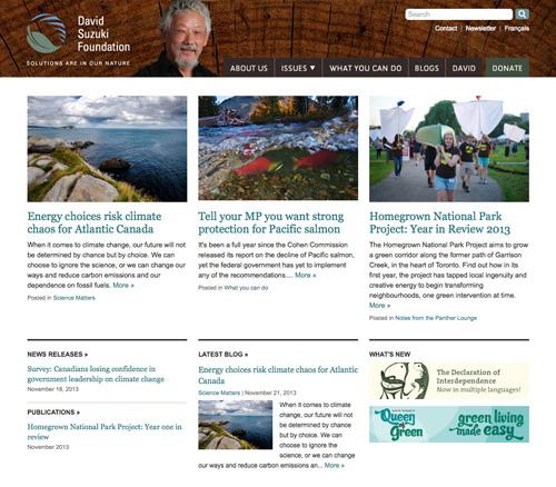 David Suzuki Foundation homepage