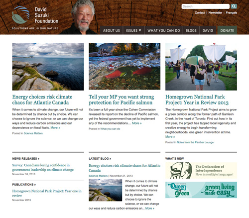 David Suzuki Foundation homepage