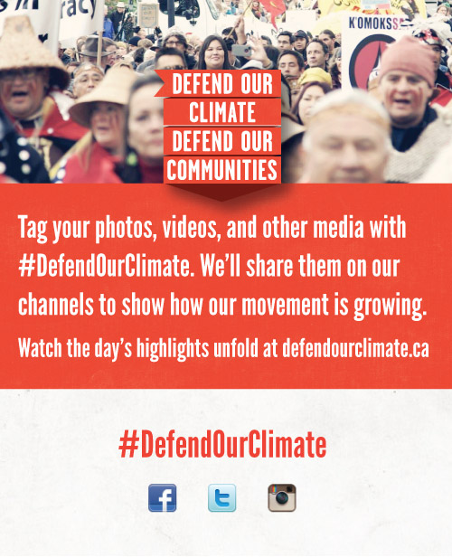 Defend Our Climate printable sharing card
