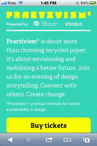 Practivism on iPhone