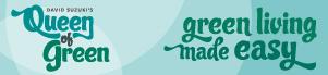 Queen of Green - green living banner