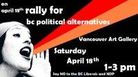 Rally for BC Political Alternatives