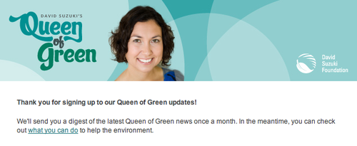 Queen of Green email preview