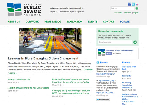 Vancouver Public Space Network homepage